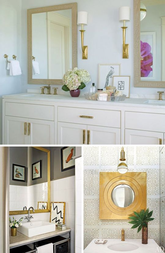 Wonderful Bathroom Ideas Gold M Intended Design
