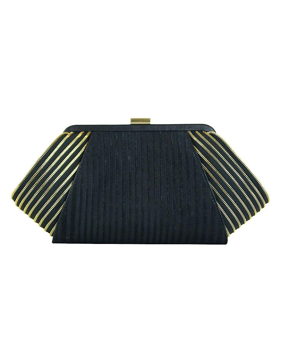 black and gold evening #clutch by Zac Zac Posen, $375   Hudson's Bay