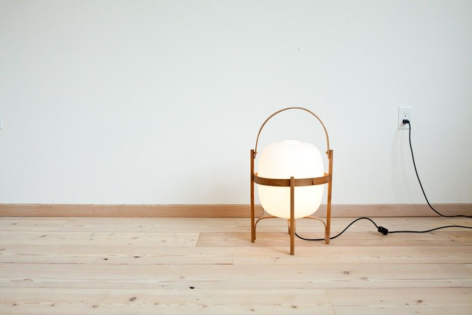 Cesta table lamp designed by miguel mila 1964 cherry wood cesta table lamp designed by miguel mila 1964 cherry wood structure aloadofball Images