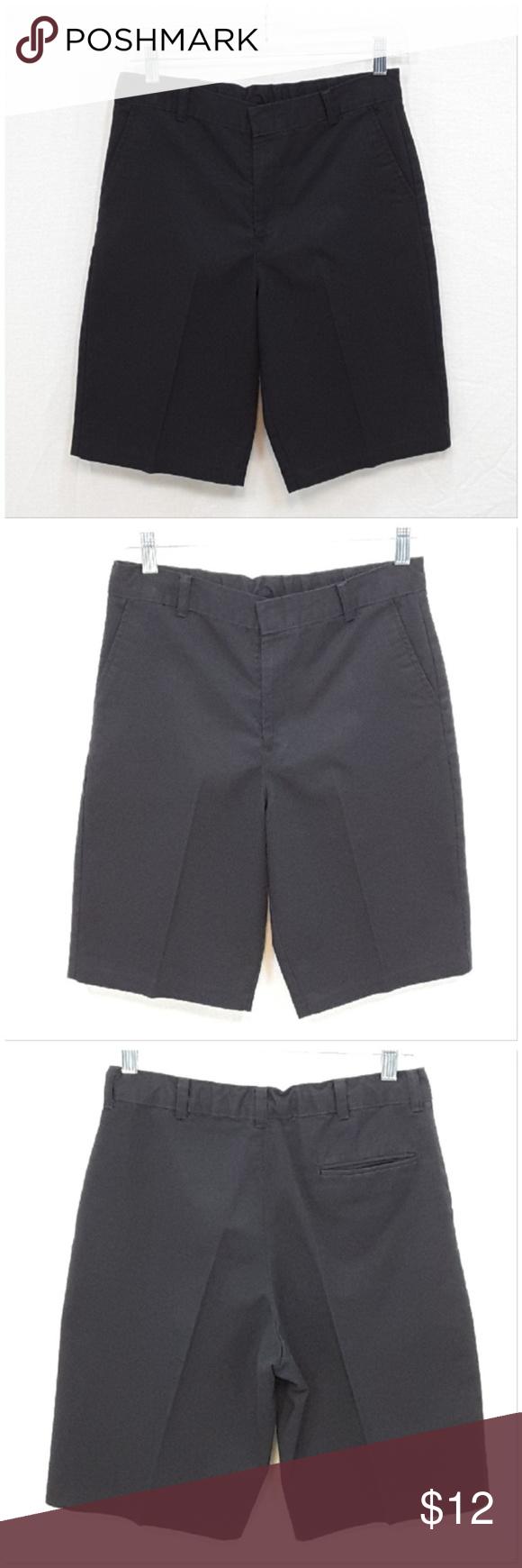 Boys Black Dress Shorts Size 16 L Xl Short Dresses Black Short Dress Dresses [ 1740 x 580 Pixel ]