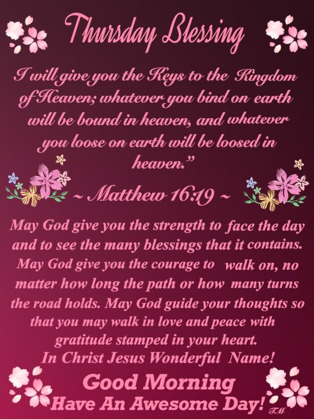 Idea by Rhonda Newman on Wed.& Thurs. Blessings | Good ...  |Thursday Prayers From The Heart