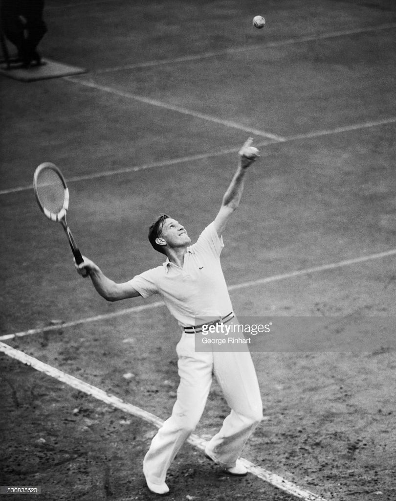 Baron Gottfried Von Cramm three times Wimbledon runner up