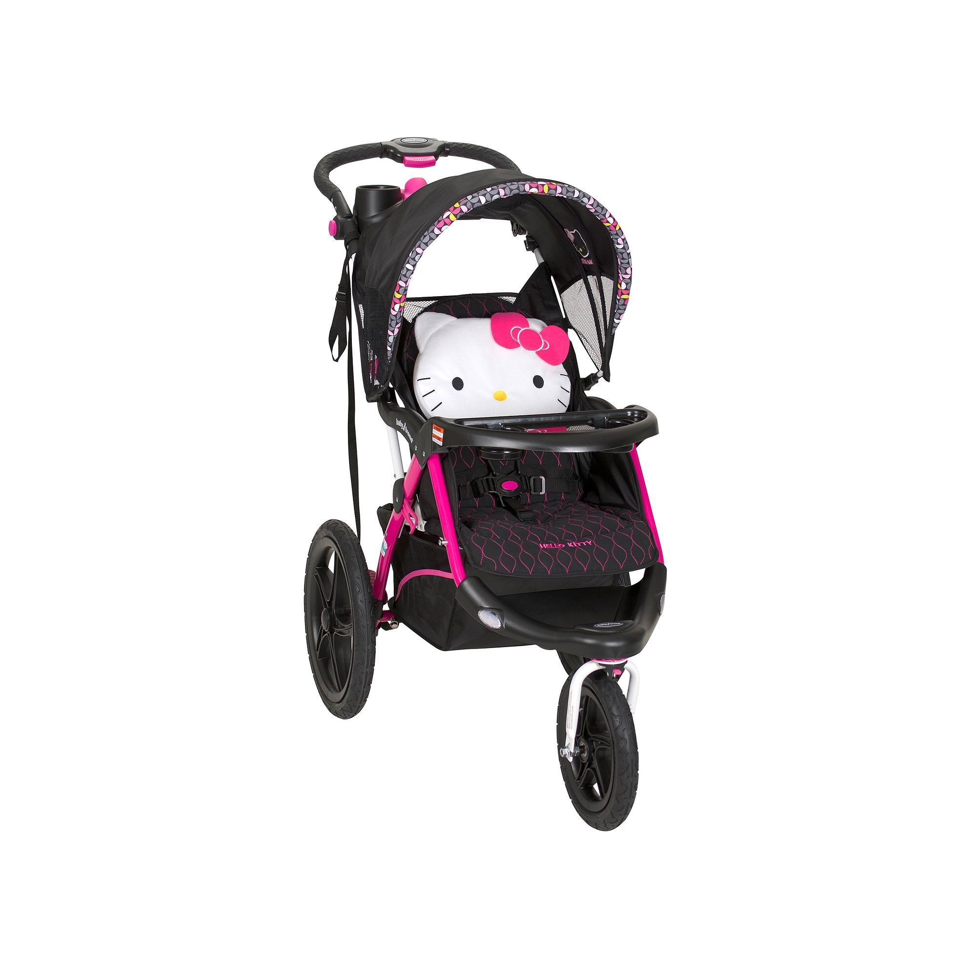 Hello Kitty' Pin Wheel Calypso Jogger Stroller by Baby Trend Pink