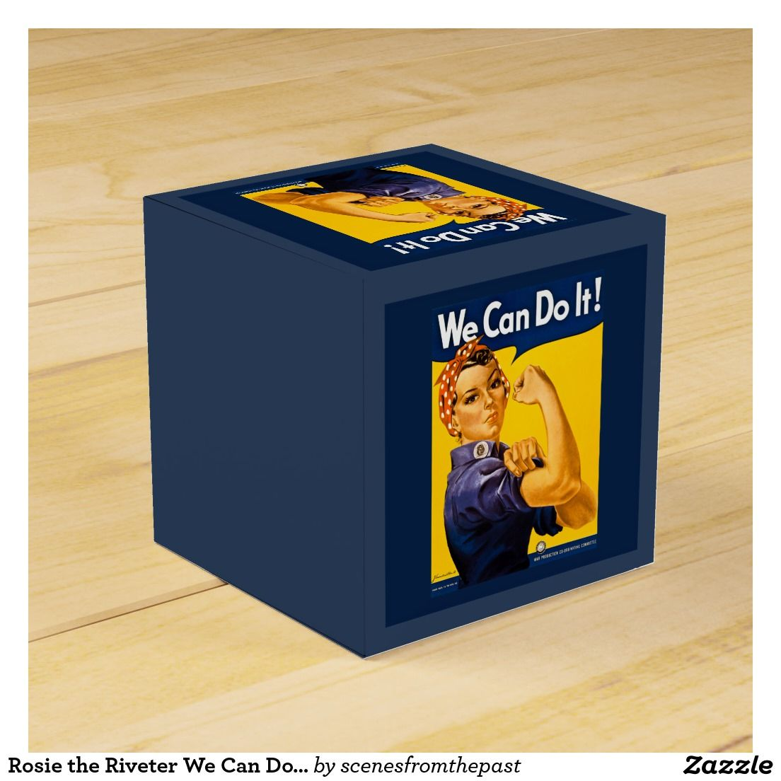 Rosie the Riveter We Can Do It Vintage Classic Favor Boxes
