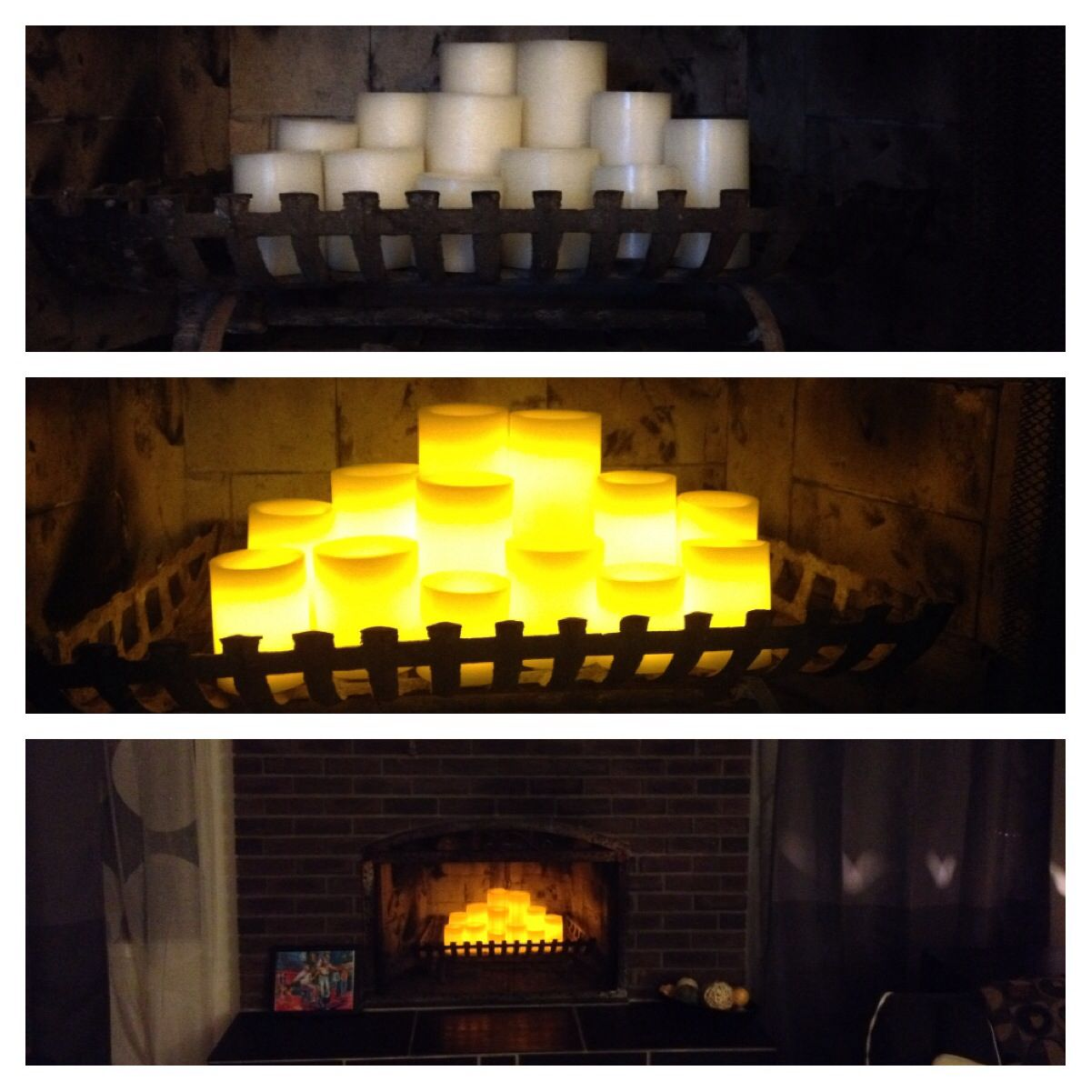have an old fireplace that doesn 039 t work flameless led candles with a 5 or 10 hour timer set them once and they will come on at the same time everyday