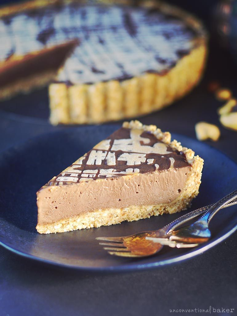 No Bake Vegan Chocolate Peanut Butter Pie Vegan Glutenfree