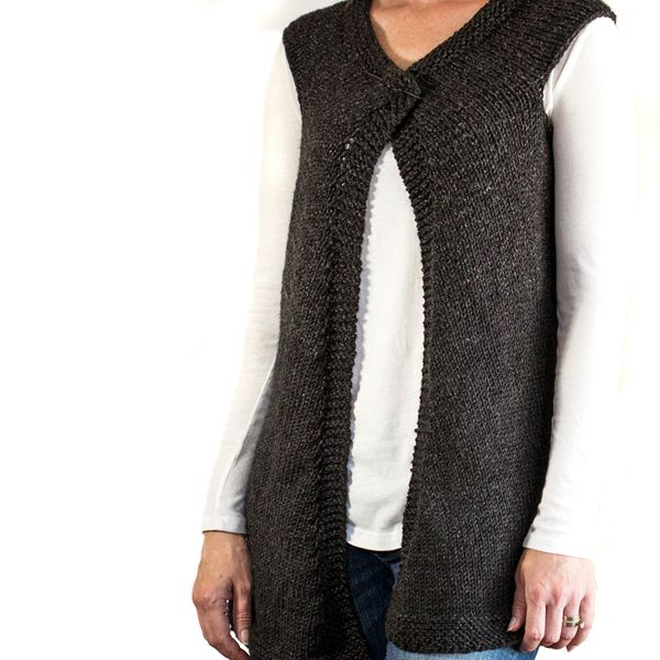 Super Easy Vest Knitting Pattern Knitting Pinterest Knit