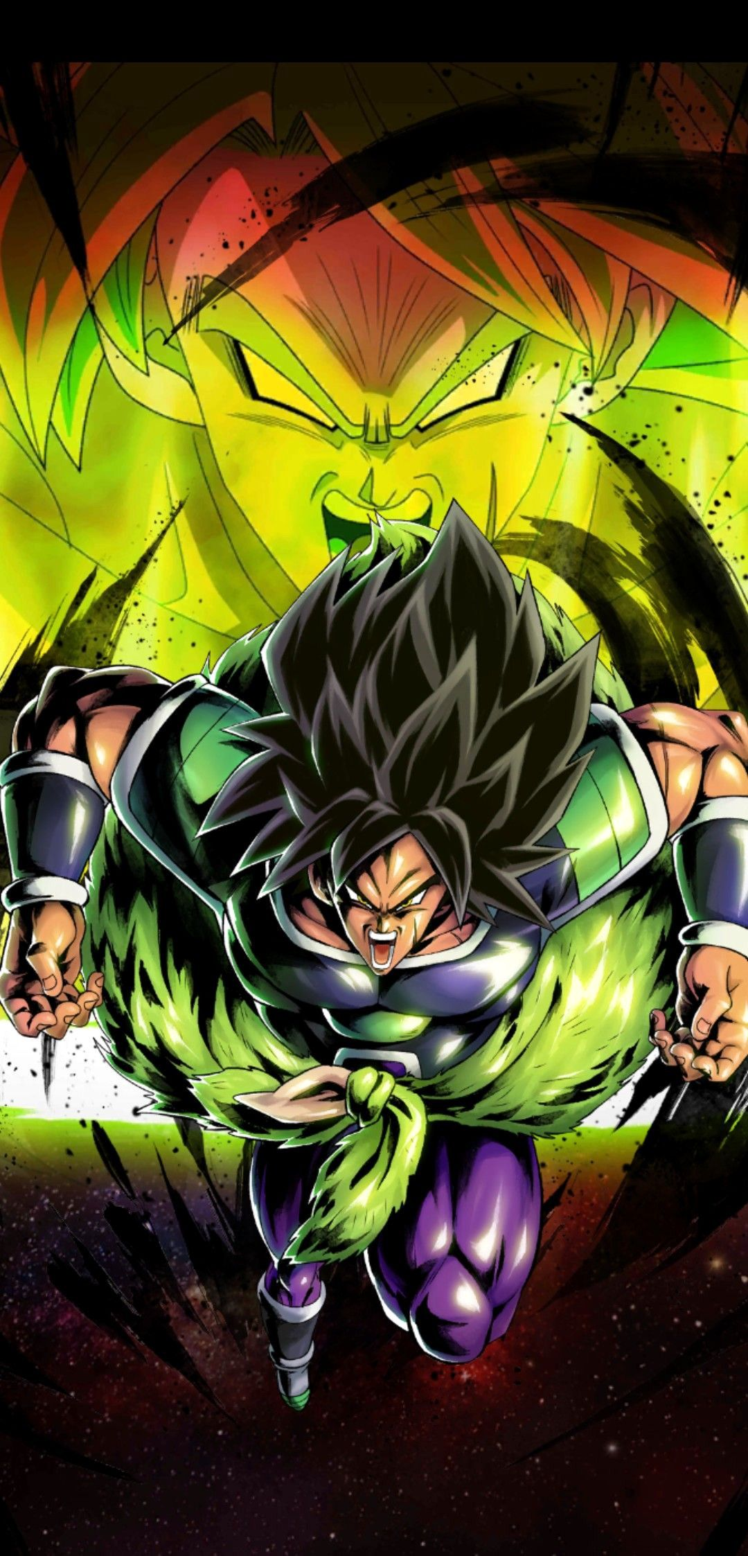 Beautiful Broly Flying Vs On Wallpaper Mobile wallpaper