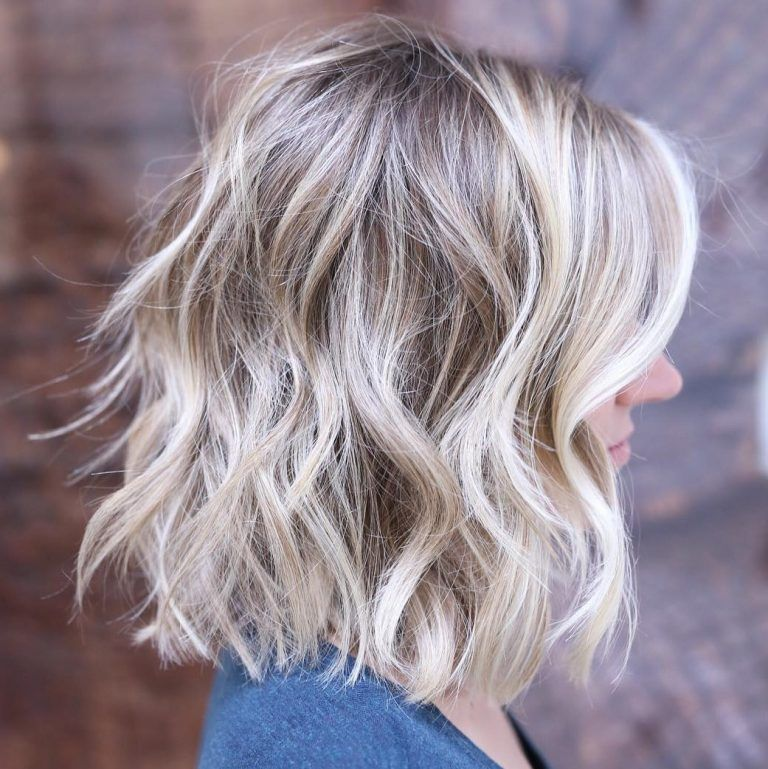 20 lange choppy bob frisuren für brünette und blondinen