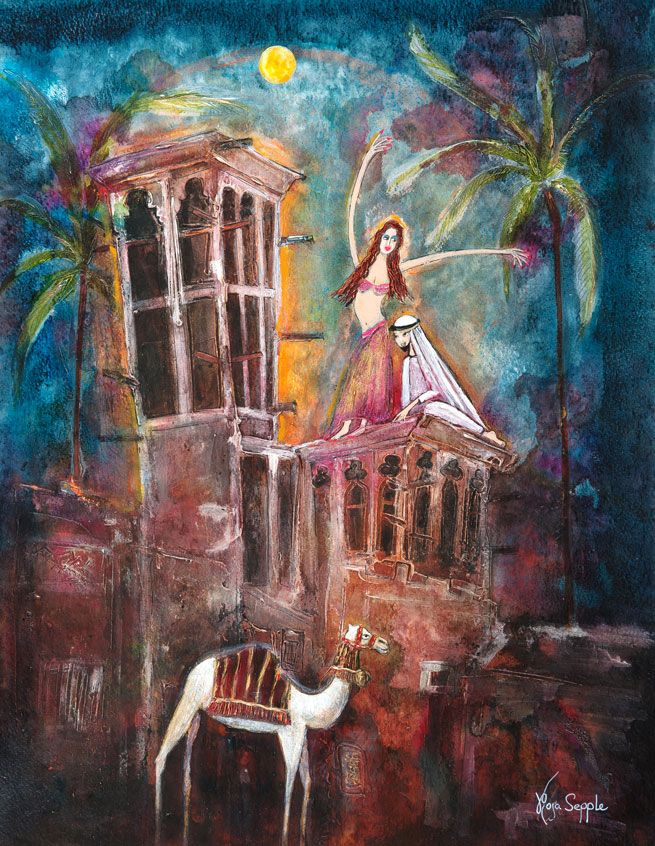 'Arabian-Nights'-48x38cms-Rosa-Sepple