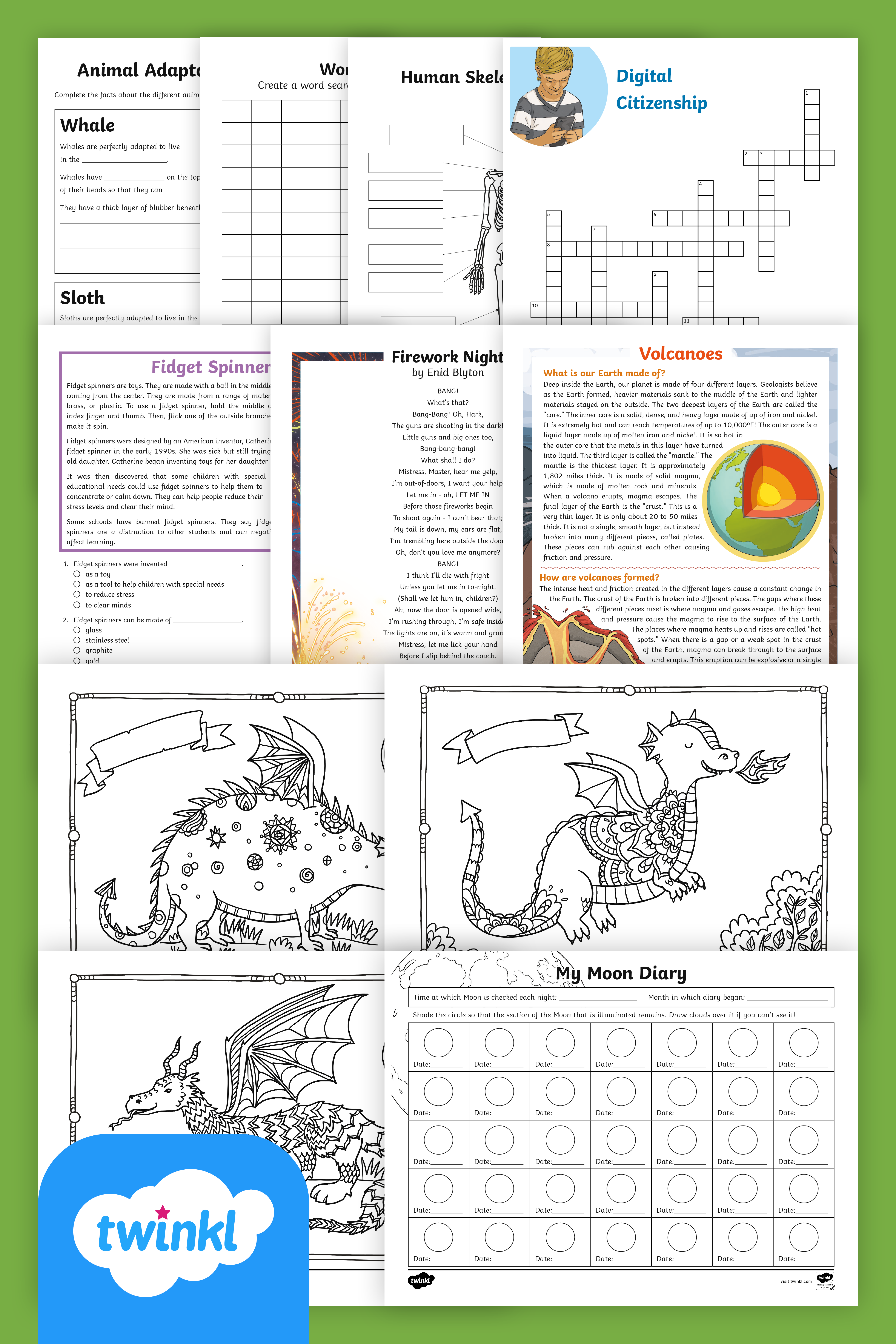 Free Fourth Grade School Closure Take Home Activity Packet