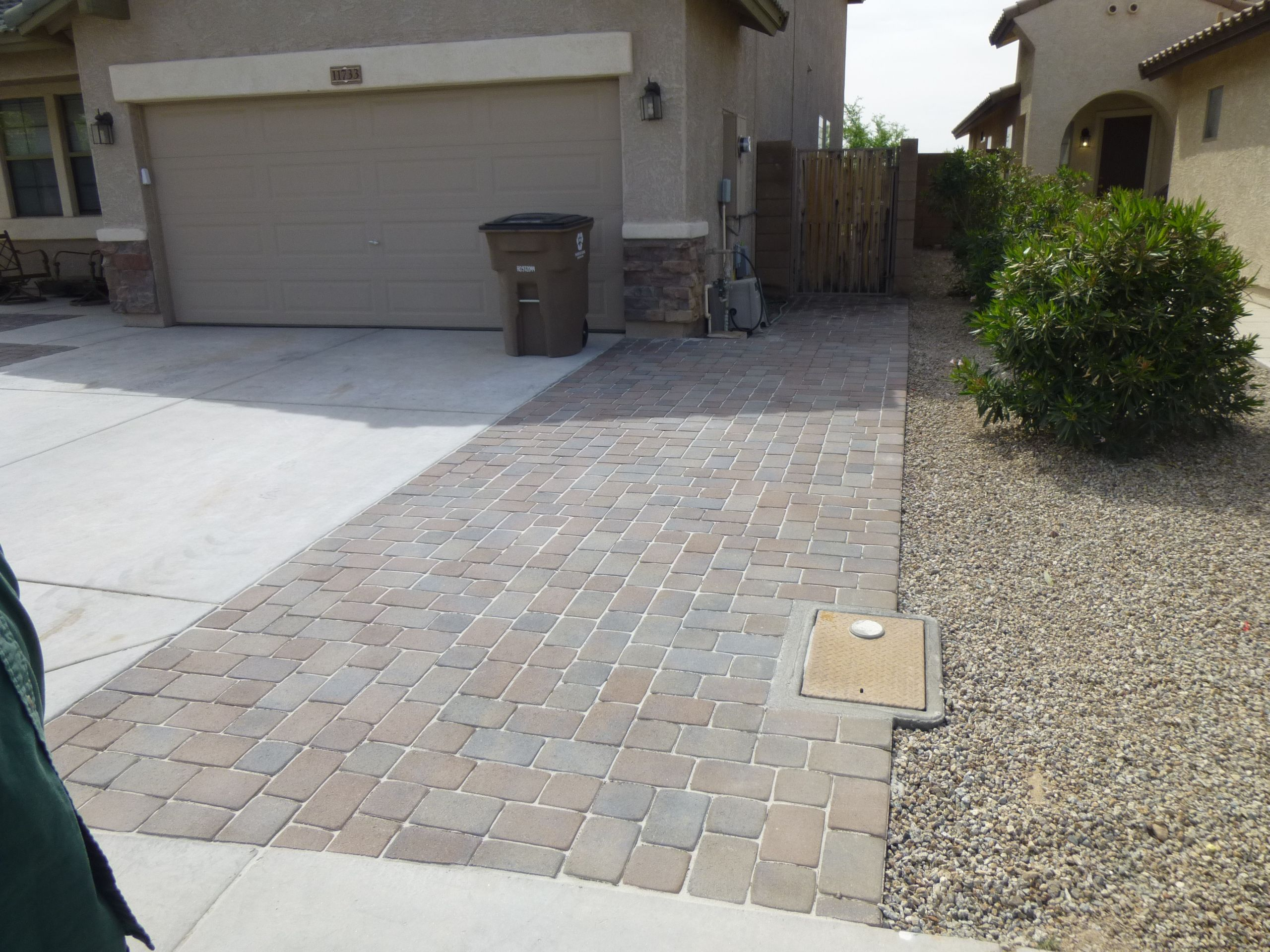 Paver driveway extension call us for free estimate 623 for Garage extension cost estimate