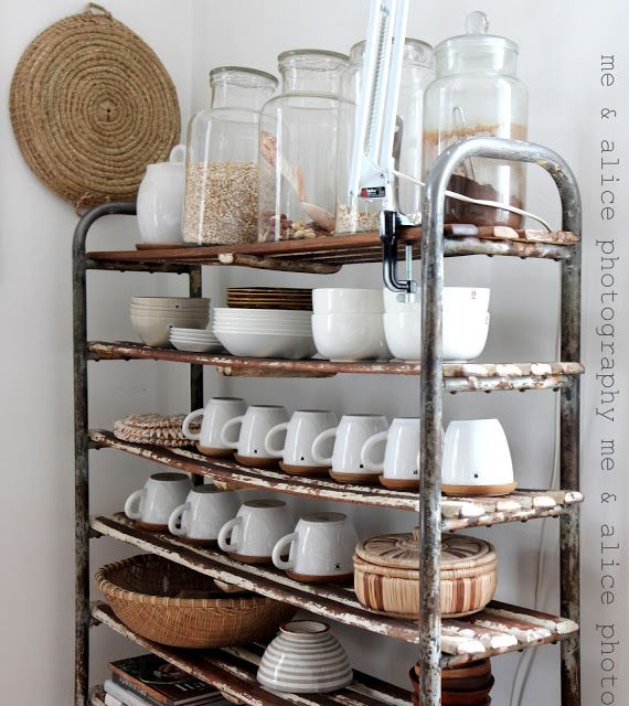 Vintage Canisters And Shelving