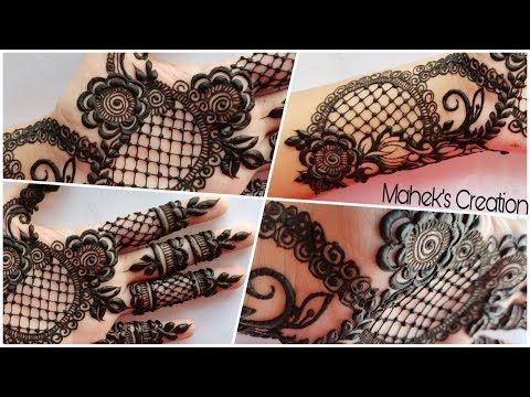 Ramzan Eid Special Henna design #20 | ROSES AND GRIDS | Mahek's Creation