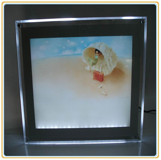 customized super slim crystal light frame for poster display a2