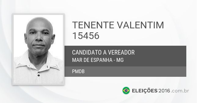 Santinho de Tenente Valentim - 15456 - Candidato a Vereador