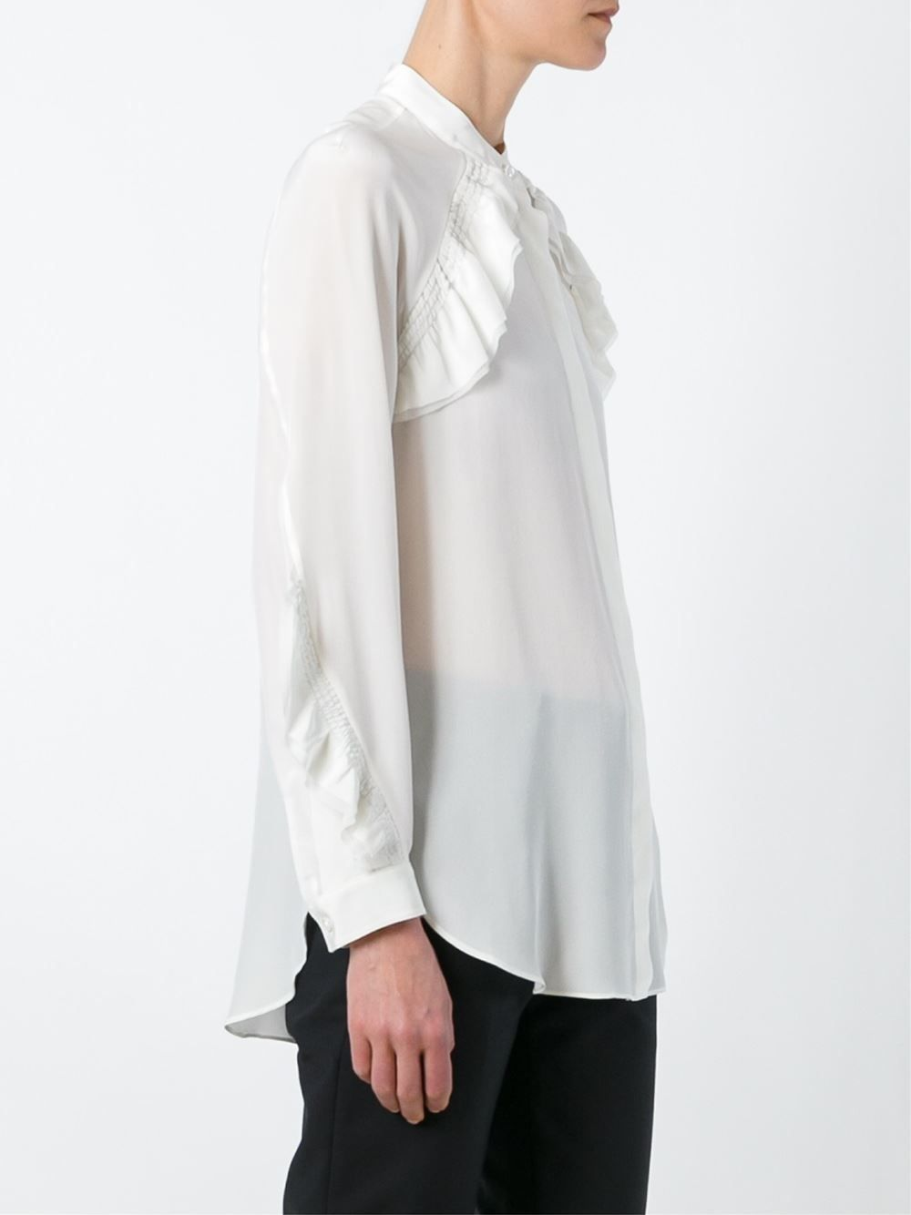 cee6a96a148 3.1 Phillip Lim ruffled oversize blouse Энн Демелемейстер