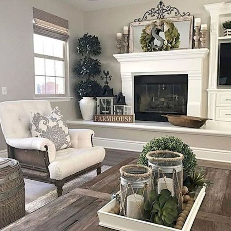 51 Amazing Rustic Farmhouse Home Decorations images