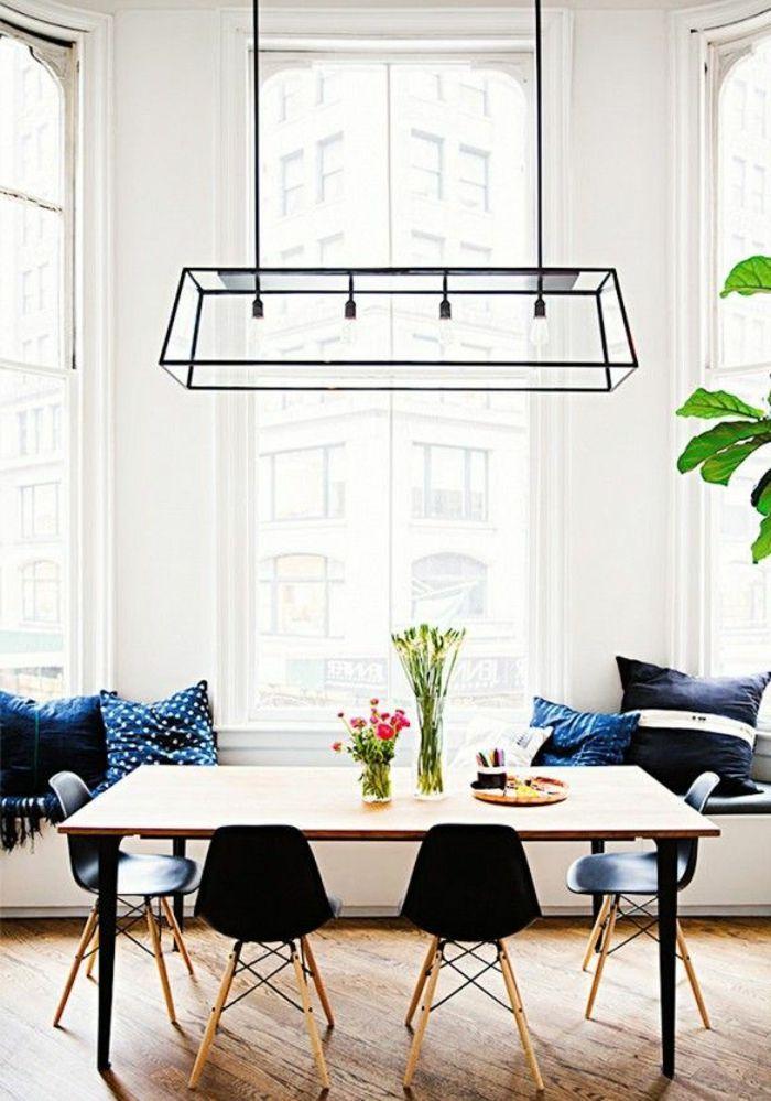 la salle à manger contemporaine avec parquet clair kitchen - Salle A Manger Parquet