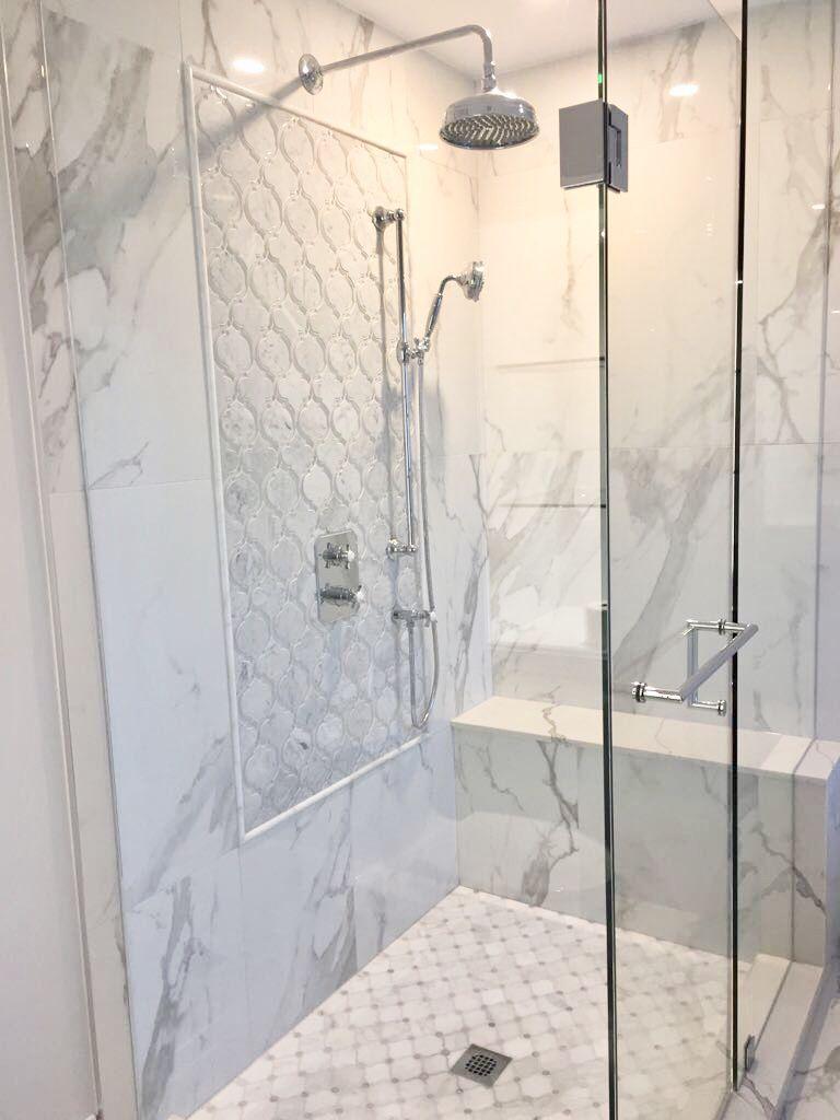 Master Bathroom White Grey Bathroom Remodel Shower Shower Remodel Bathrooms Remodel