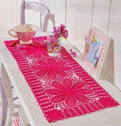 Loper Haken Met Diagrammen Tafelkleedjes Pinterest Crochet