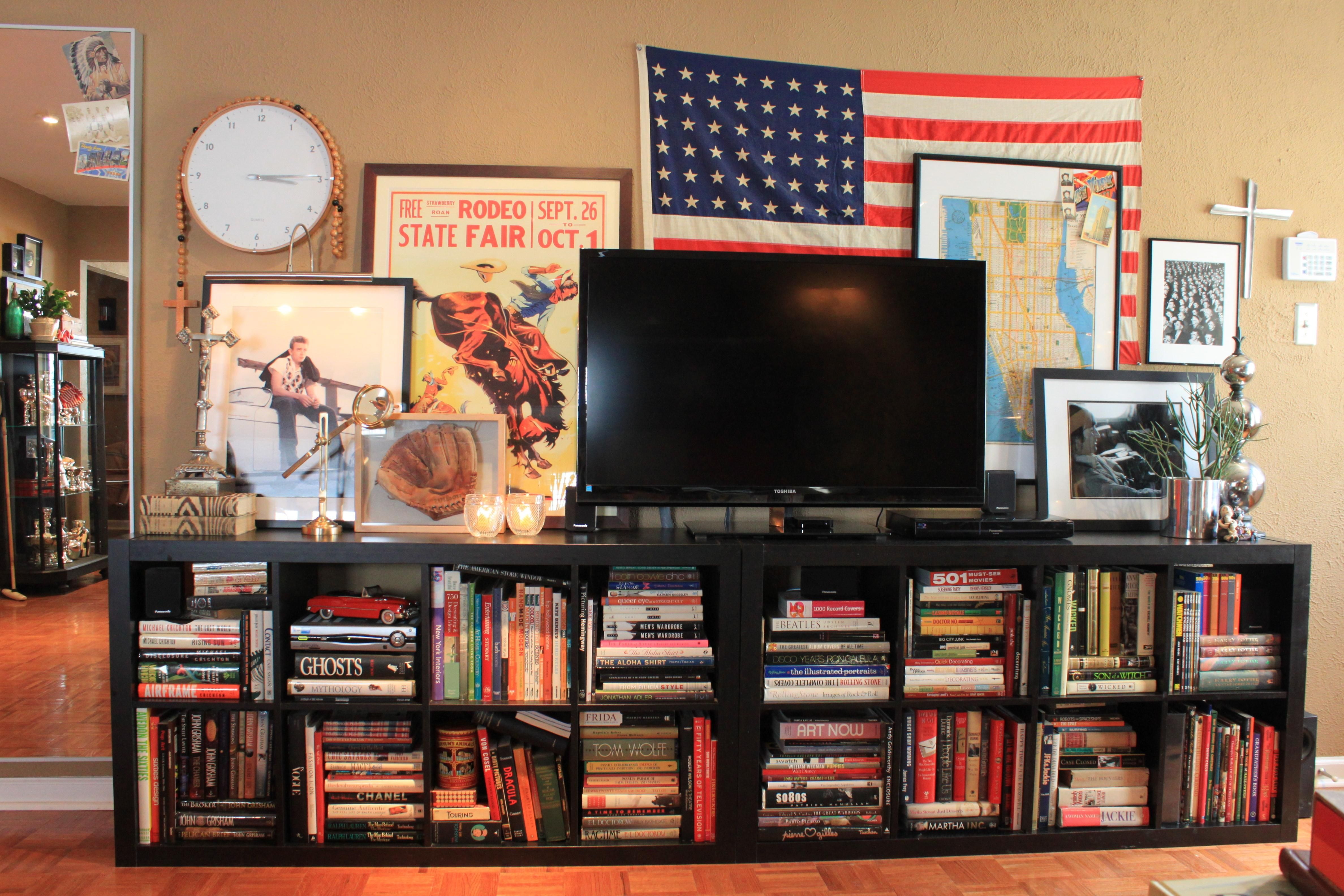 ikea expedit bookcase tv stand | roselawnlutheran