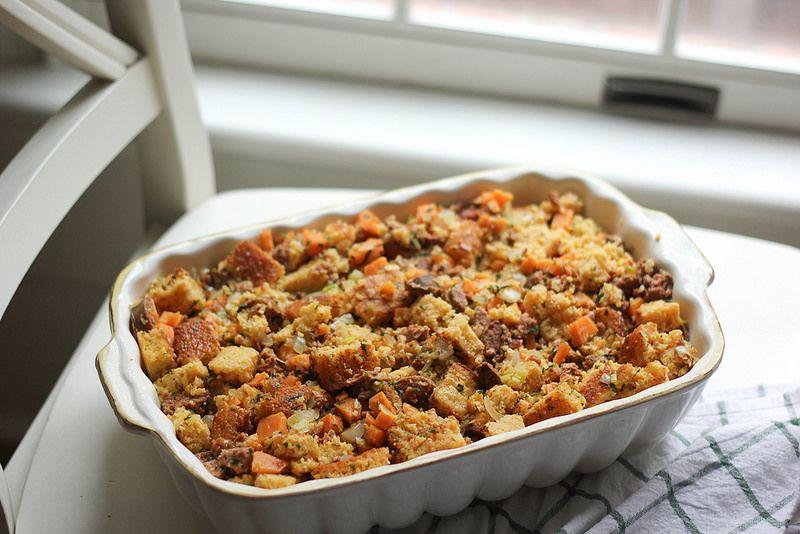 Southern Souffle: Sweet Potato Chorizo Cornbread Stuffing ...