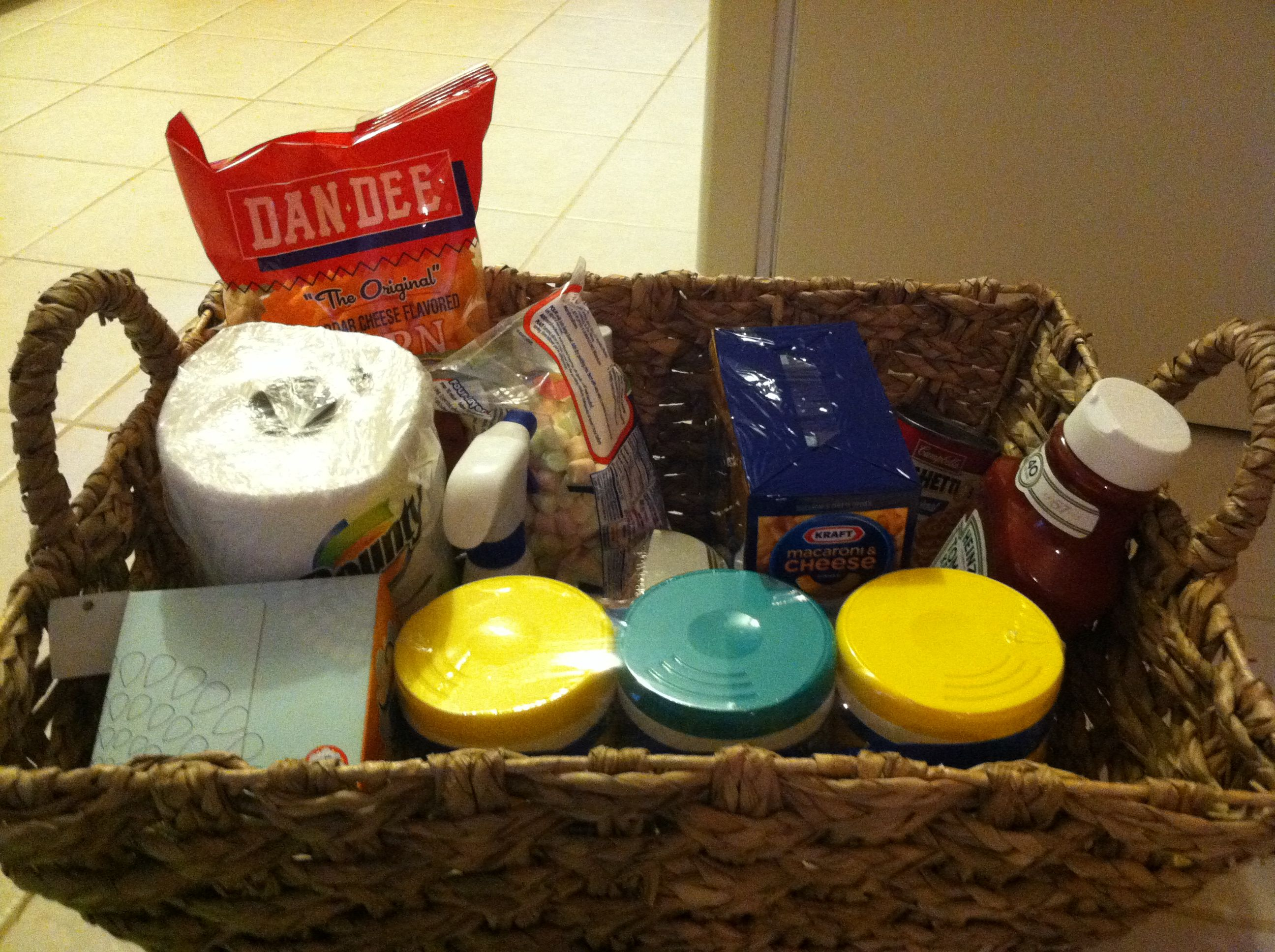 Gift for a daycare provider... Basket filled with all the goodies ...