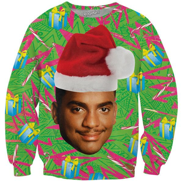 Christmas Presents Carlton Crewneck Sweatshirt exclusively from... ❤ liked on Polyvore featuring tops, hoodies, sweatshirts, sweat shirts, crew neck sweatshirts, christmas sweatshirt, crew neck sweat shirt e crew neck tops