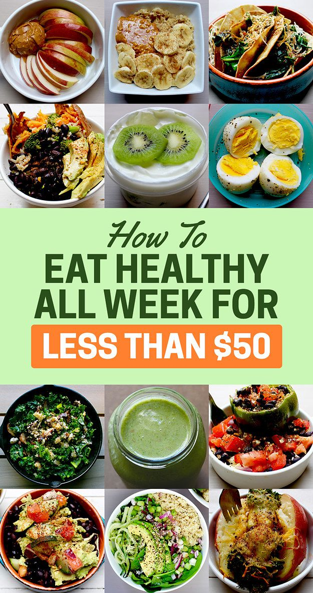 Here S How To Eat Healthy For A Week With Just 50 Cheap Healthy Meals Healthy Eating Healthy Meal Prep