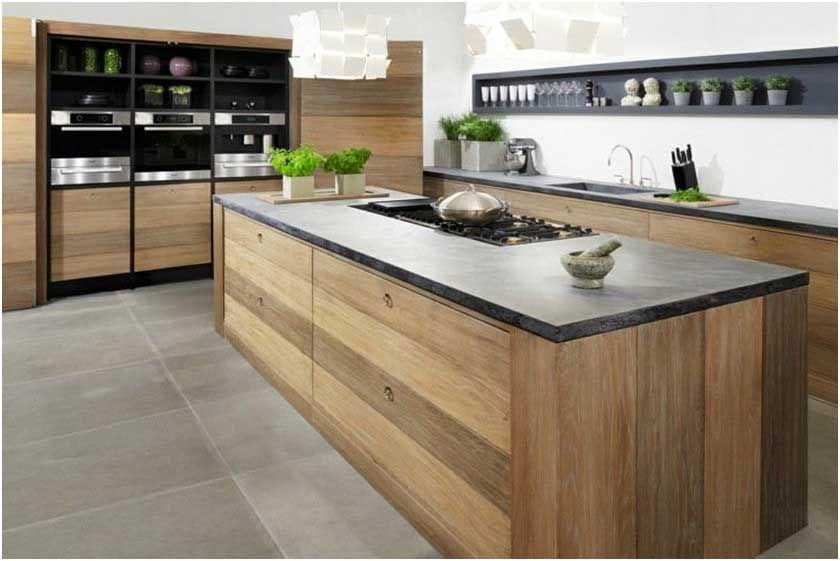 Cuisine Marbre Noir Et Bois - Décoration de maison idées de design d ...