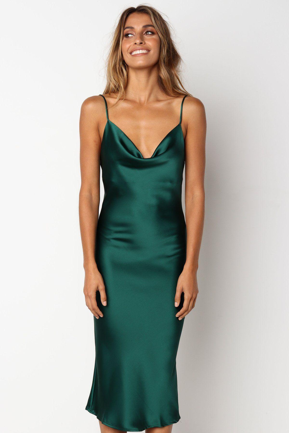 48++ Green silk dress information