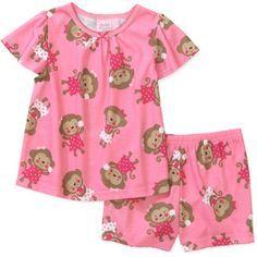Pijama Blusa Manga Corta Y Pantalon Corto Moda Para Ninas Ropa