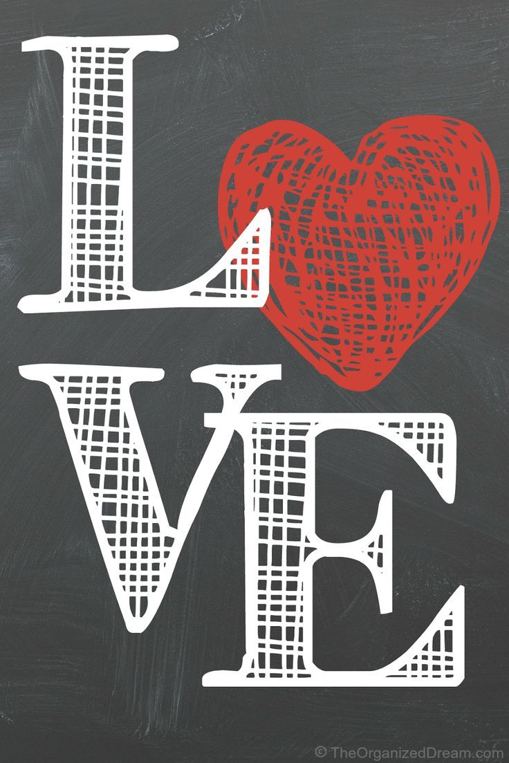 Free Valentine's Day Printables | Chalkboard art quotes ...