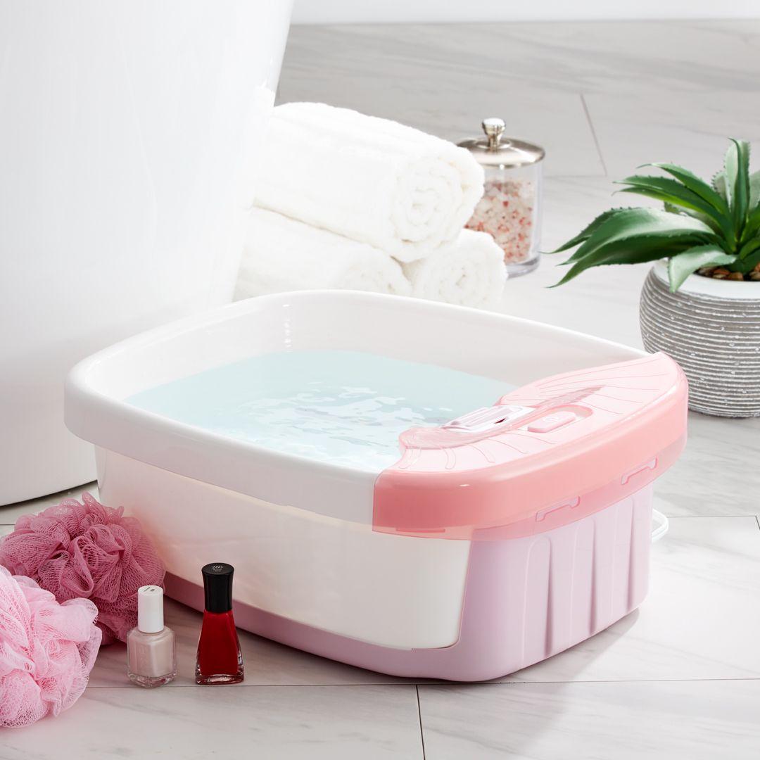 Pink Bubble Bliss Deluxe Foot Spa Homedics Com Foot Spa Pink Bubbles Spa