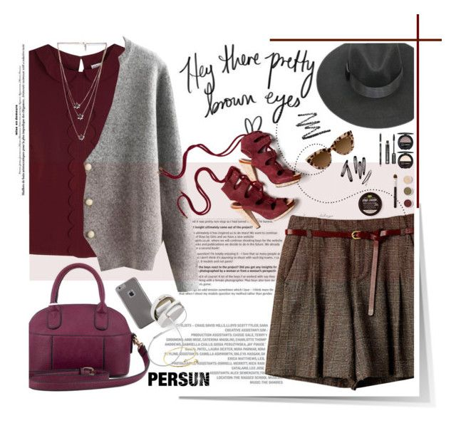 """""""Hey there pretty brown eyes"""" by sinsnottragedies ❤ liked on Polyvore featuring Muveil, RED Valentino, Bare Escentuals, Dr.Hauschka, Derek Lam, Case-Mate, Isabel Marant, H&M and persunmall"""