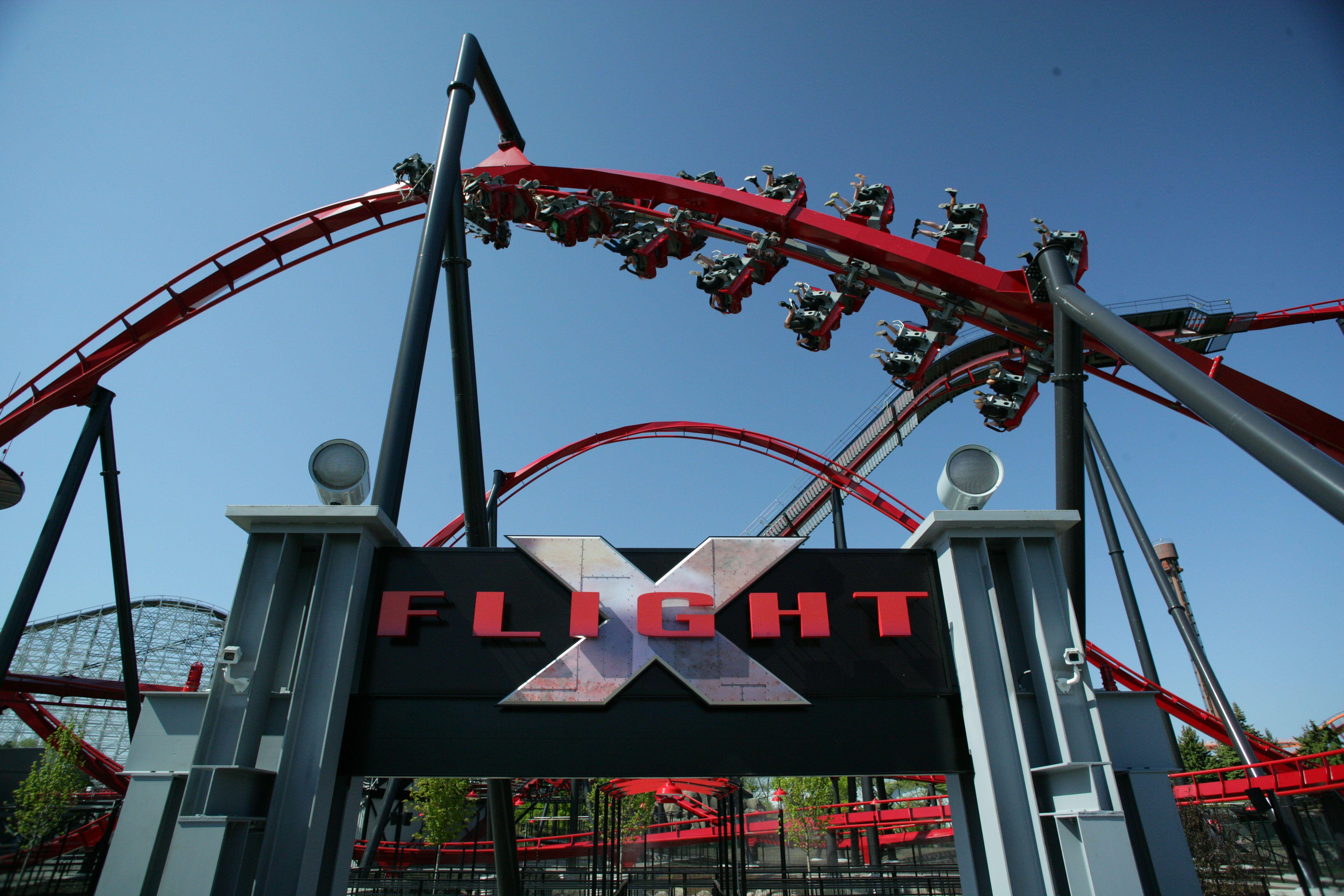 X Flight Great America Best Roller Coasters Roller Coaster Ride