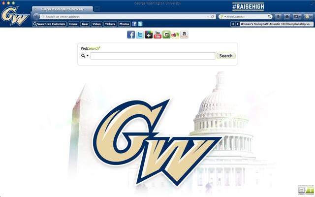 George Washington Browser Theme Ncaa Basketball March Madness Ncaa Basketball Team