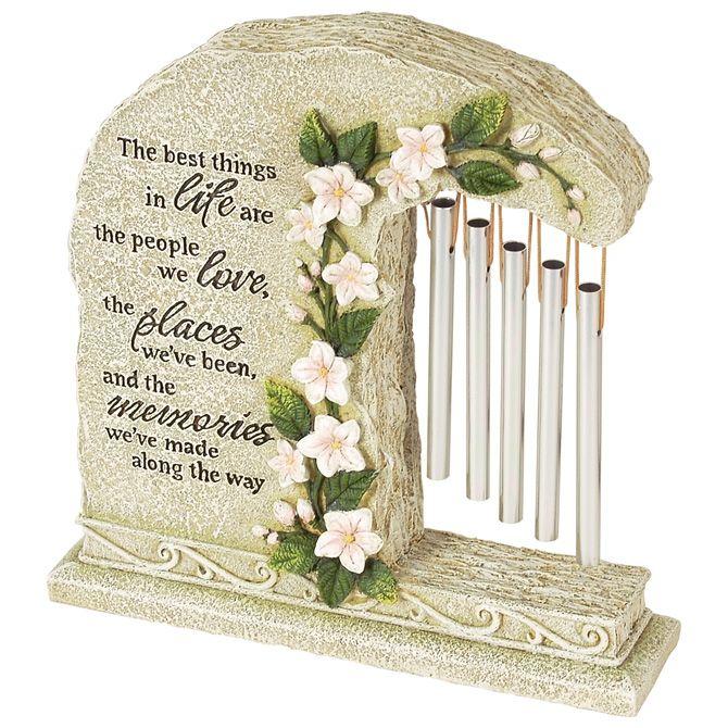 Garden Stone Wind Chime Unique Sympathy Gift Idea Memorial