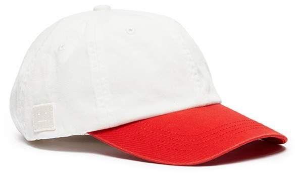 Acne Studios  Carliy Face  emoticon patch colourblock baseball cap ... 14e3c943b