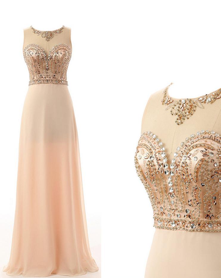2017 New Prom Dress A Line Sweetheart Floor-Length Beaded