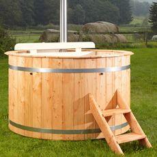 Vasca da bagno a botte in legno massello Ø160 cm   Giardino Fioriere ...