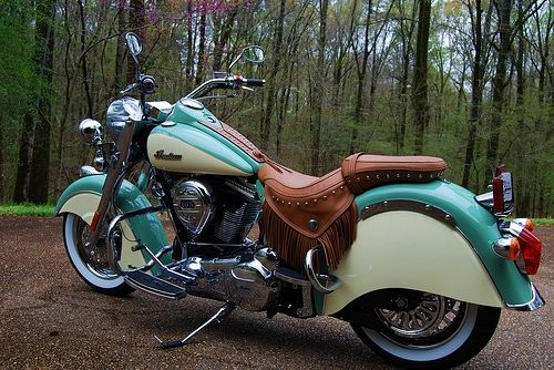 Turquoise And Cream With Images Vintage Indian Motorcycles