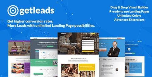 Getleads v1.6 High-Performance Landing Page WordPress Theme Blogger ...