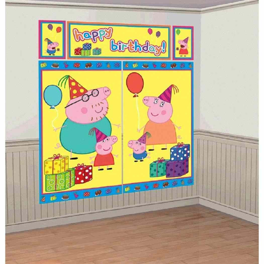 $7.99 - Peppa Pig Nick Jr Birthday Party Backdrop Scene Setters Wall ...