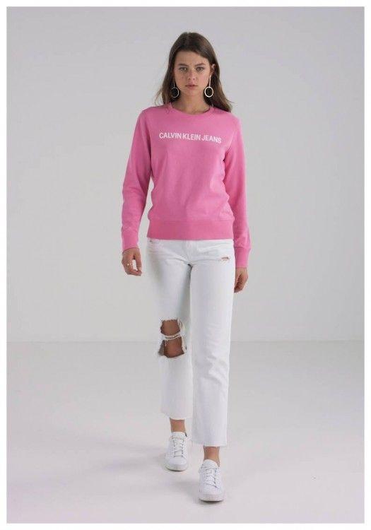 half off cbe2b 3f2c0 Calvin Klein Sweatshirt Damen Zalando | Damen Sweatshirt