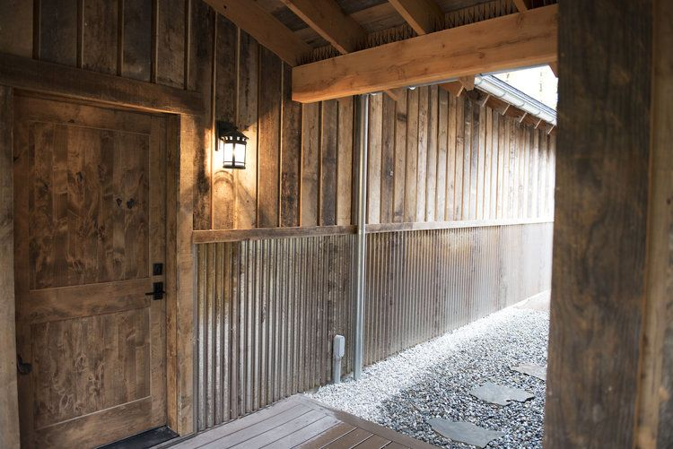 A Rustic And Cozy Reclaimed Cabin. Find This Pin And More On Reclaimed Exterior  Wood Siding ...