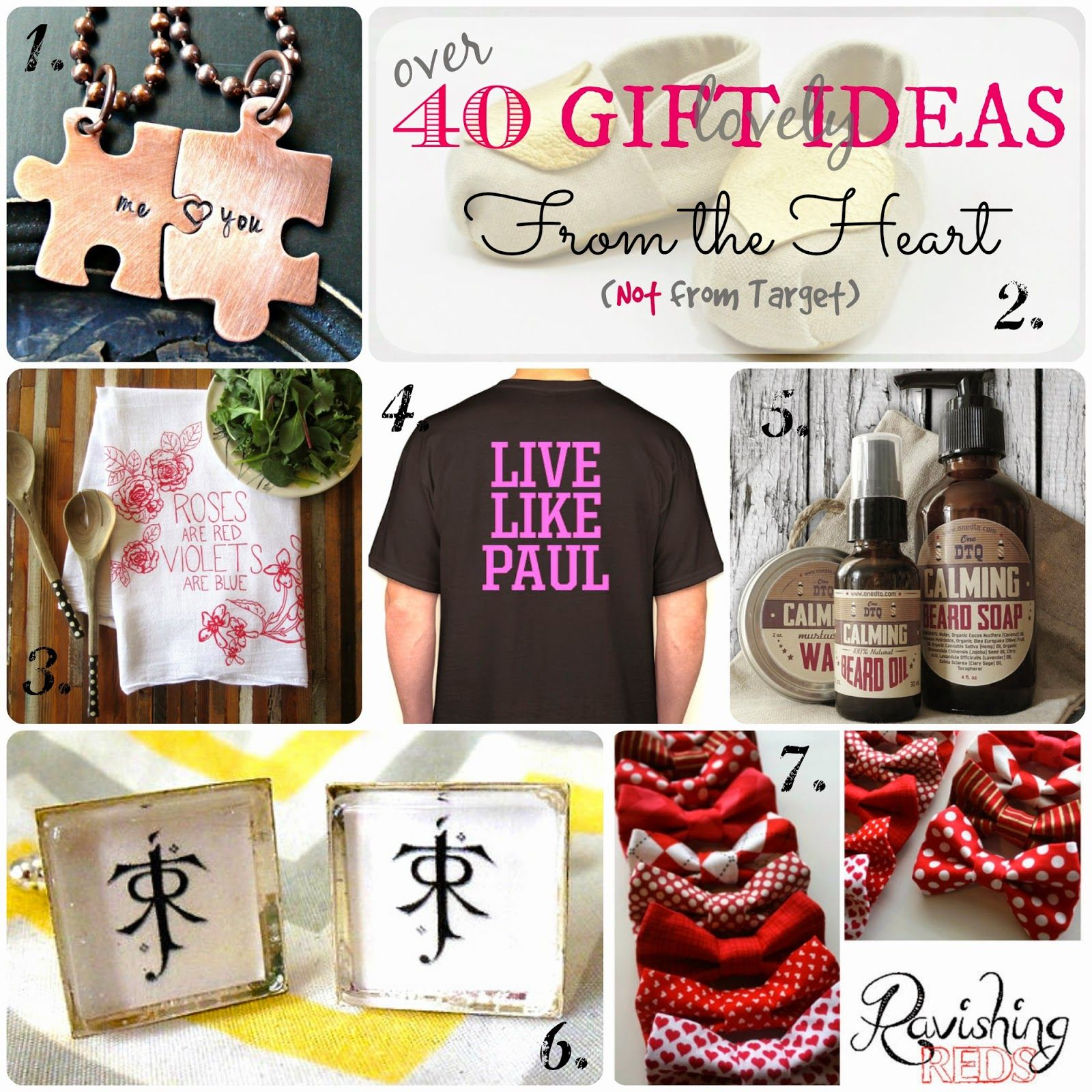 40 fromtheheart not from target gift ideas for