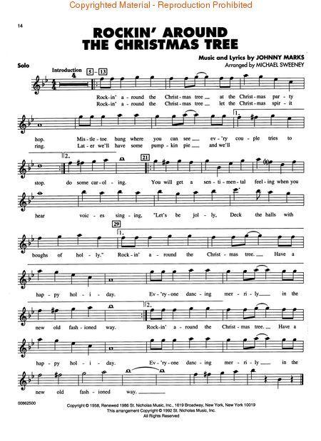 Rockin Around The Christmas Tree Flute Sheet Music Sheet Music Music