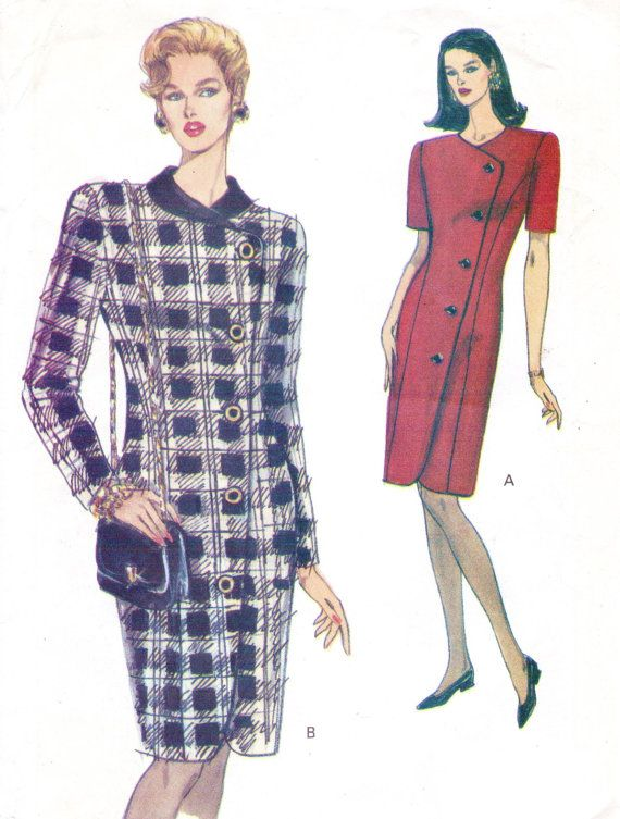 90s Very Easy Very Vogue Sewing Pattern 8192 Womens by CloesCloset, $11.00